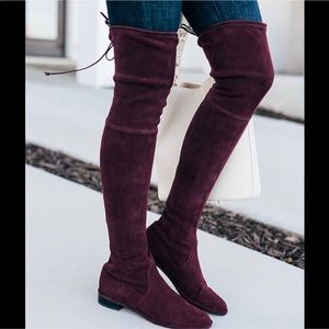 Stuart Weitzman Lowland Over the Knee Suede Boots